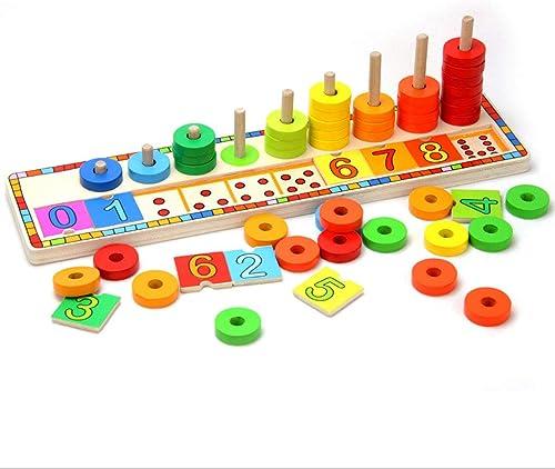 Kinderspielzeug 2-3 Jahre alt Mathematikaufkl ng Entwicklung des Gehirnbausteins Baby