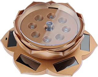 F Fityle 360 Degree Rotating Jewelry Display Stand Solar Powered Phone Watch Show Turntable –Lotus Shape