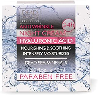 Dead Sea Collection Anti-Wrinkle Night Cream with Hyaluronic Acid to Nourish and Soothe 1.69 fl.oz.