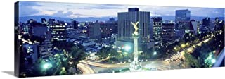 Solid-Faced Canvas Print Wall Art Print Entitled Mexico, Mexico City, El Angel Monument 60