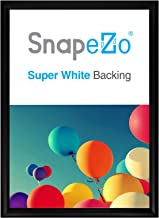 SnapeZo Poster Frame 20x28 Inches, Black 1.2 Inch Aluminum Profile, Front-Loading Snap Frame, Wall Mounting, Premium Series