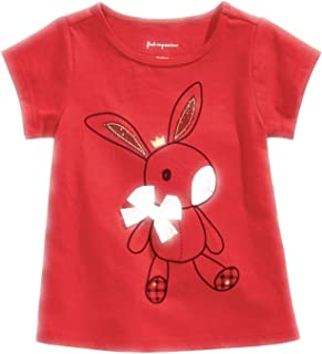 First Impressions Baby Girls Cotton Bunny T-Shirt 24 mos Tango Red