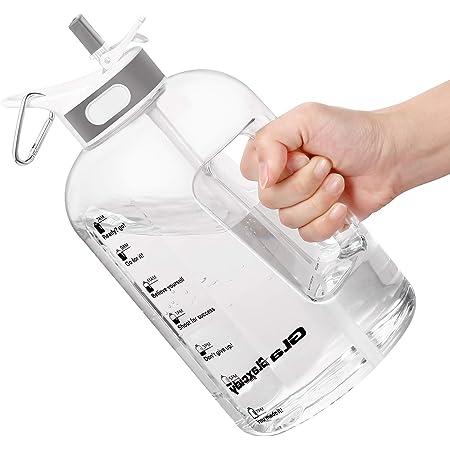 borraccia con indicatore di tempo per ricordare lora di bere 1 Litre Bottiglia Acqua con cannuccia e manico Borraccia Palestra senza BPA Yoga e Lavoro Ideale per Allaperto Borraccia Acqua