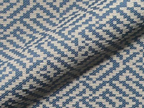 Möbelstoff PALOS Muster Abstrakt Geometrie blau als robuster Bezugsstoff, Polsterstoff als Meterware gemustert zum Nähen und Beziehen, Fleckschutz