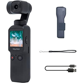 Feiyutech Pocket Camera 3-Axis Handheld Gimbal Camera Stabilizer 4K HD Built-in Wi-Fi Control 120° Wide Angle Smart Track
