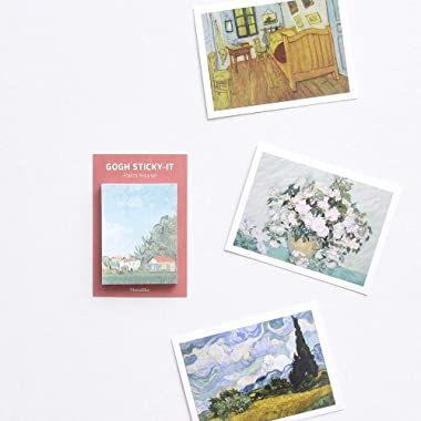 Monolike Art Sticky-It - 5p Set Self-Adhesive Memo Pad 50 Sheets