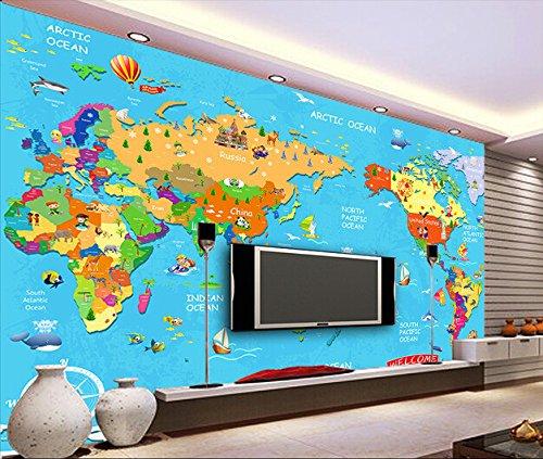 Rureng Custom,cartoon animal world travel mural para la habitación de los niños varones y las niñas dormitorio papel tapiz 3D-350x250cm