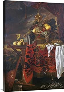 Global Galerie Budget gcs-264784–91,4–360,7 gcs-264784–91,4–360,7 gcs-264784–91,4–360,7 cm Jan Davidsz De Heem eine Korb, Mixed Fruit mit verGoldet Tasse Galerie Wrap Giclée-Kunstdruck auf Leinwand Art Wand B01K1OW2HS  Neueste Technologie d3b98f