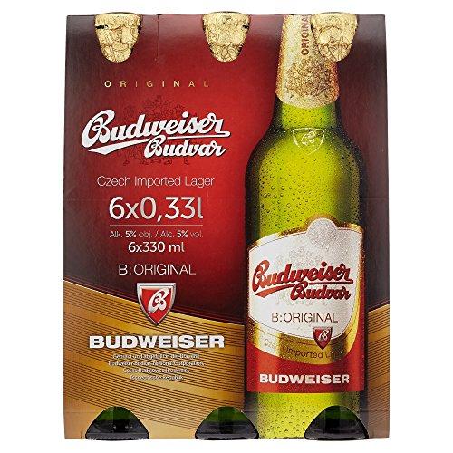 Budweiser Budvar Premium Lager MEHRWEG, (6 x 0.33 l)