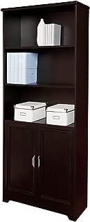 Realspace Magellan Collection 5-Shelf Bookcase With Doors, Espresso