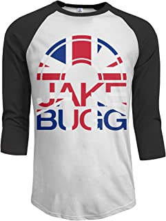 JeremiahR Jake Bugg Men's 3/4 Sleeve Raglan Baseball Tshirts Black