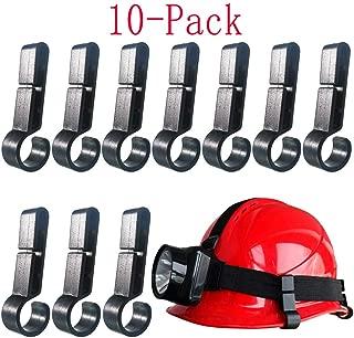 Helmet Clips for Headlamp,Headlamp Hook,hard hat Light Clip,Helmet Clip,Hard Hat Accessory Easily Mount Headlamp on Narrow-Edged Helmet (Pack of 10)