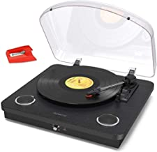 Vinyl Record Player, dodocool 3 Speed Turntable Blue Tooth Record Player with 2 Built-in Stereo Speakers, Replacement Need...