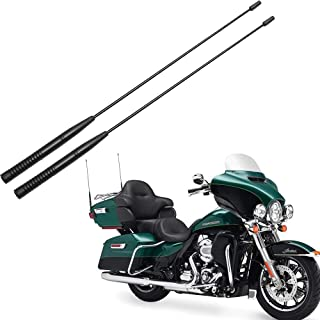 BASIKER 2PACK-16.3inch Flexible Rubber Antenna Replacement for 1989-2019 Harley Davidson Touring Electra Road Street Glide Trike Ultra Classic CVO