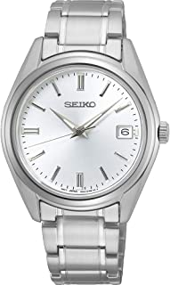 Seiko New Link Quartz Stainless Steel White Dial watch - SUR315P1