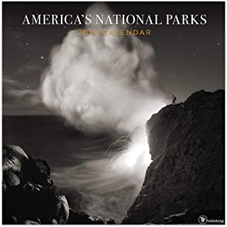 2019 America's National Parks Black and White Wall Calendar