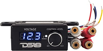 DS18 BKVR Remote Level Control - RCA Line Level Control, Built-in Volt Meter, On/Off Amp Switch, Multiple Mounting Options - Prevent Damage to Your Audio Equipment