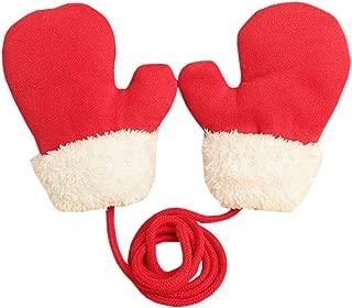 ACVIP Toddler Kindergarden Girl's Boy's Warm Lining Cold Weather Stringed Mitten Gloves