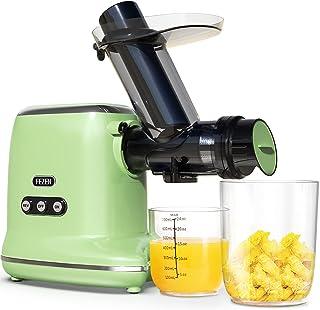FEZEN Exprimidor lento – Potente exprimidor para frutas y verduras – Motor silencioso & función inversa & jarra & cepillo ...