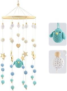 ARTESTAR Mobile Boule Au Crochet, Mobile En Bois Bebe, Mobile Decoratif, Mobile Enfant Bois, Cadeau Bebe Pour Lit Bebe, Jo...