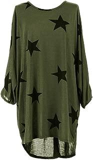 iOPQO Tops for Women, Ladies Plus Size Star Print Louboutin Tunic Tops Blouse