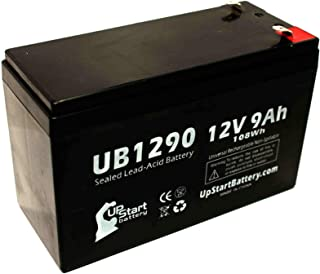 Replacement for Tripp Lite OMNIVS1500 Battery - Replacement UB1290 Universal Sealed Lead Acid Battery (12V, 9Ah, 9000mAh, F1 Terminal, AGM, SLA) - Includes Two F1 to F2 Terminal Adapters