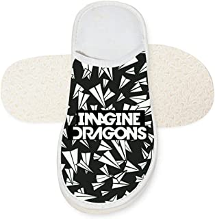 UnisexImagine Dragons Evolve 3D Printed House Slippers Couple Warm Soft Indoor Shoes Non-watertight