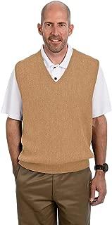 Alpaca Golf - Men's V-Neck Links Sweater Vest - 100% Alpaca Wool