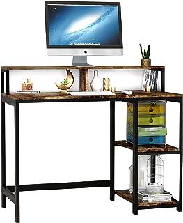 Bureau d'ordinateur Bureau Industriel pour étude,Postes de Travail pour Ordinateur Table de Bureau PC avec Cadre en métal,...