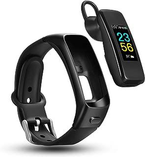 odfit Bluetooth Headphone Fitness Bracelet 2 in 1, Smart Bracelet Wireless Sport Earphone IPX7 Waterproof Talk Band Fitness Tracker with Heart Rate Blood Pressure Blood Oxygen for Men Women