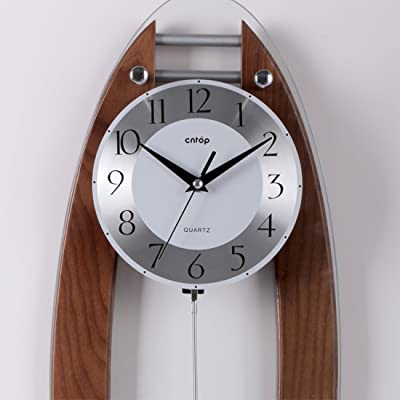 PINCHU Wood Wall Clock Modern Design Office Wall Clock
