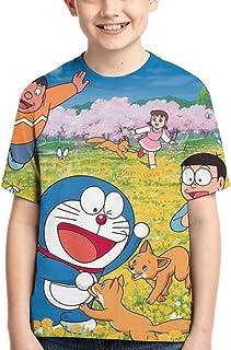 Doraemon dise/ño de dibujos animados Sudadera con capucha y bolsillo con cremallera