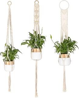 TIMEYARD Macrame Plant Hangers 3 Different Pack - Handmade Indoor Hanging Planter Plant Holder - Modern Boho Home Decor