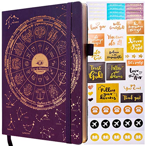 Deluxe Law of Attraction Life Planner - Academic Planner to Increase Productivity & Happiness -...