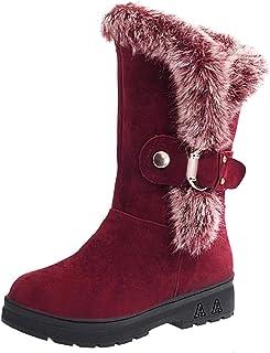 WWricotta Dames winterschoenen sneeuwschoenen warme schoenen outdoor vrijetijdsschoenen warm gevoerd sneeuwlaarzen platte ...