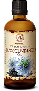 Black Cumin Oil 3.4oz - Egyptian Black Cumin Seed Oil - Egypt - 100% Pure & Natural - Best for Skin - Hair - Face - Body - uses as Pure Agent w/Essential Oil for Beauty - Glass Bottle