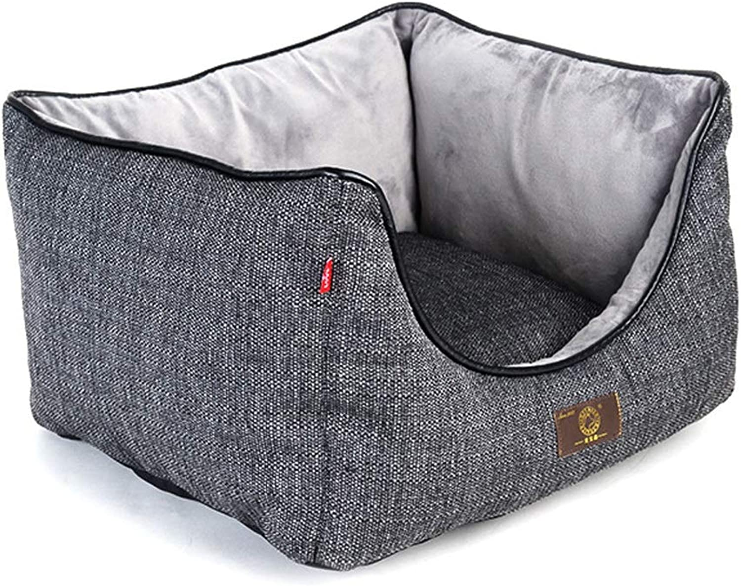 Dog Bed, Wear Resistant Comfortable Winter Warm Washable Not Sticky Hair Pet Basket Mat Cushion Medium Large XL (Size   M)