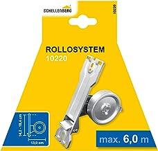 Schellenberg 10220 inbouwinder voor armbanden van katoen, grijs, gatafstand 14,2-18,4 cm 1