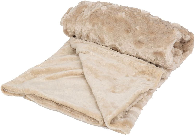Petique PB01801000 The Velvet Blanky Pet Blanket, Tan, One Size