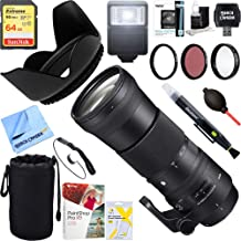 Sigma (745-306 150-600mm F5-6.3 DG OS HSM Zoom Lens Contemporary for Nikon DSLR Cameras + 64GB Ultimate Filter & Flash Photography Bundle