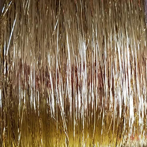 40' Hair Tinsel 100 Strands - (Shiny White Gold)