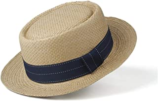 Sun Hat for men and women Women's New Straw Hat Sun Hat Flat Natural Summer Beach Hat Panama Hat UV Protection Hat Visor