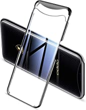 RedGoodThings Oppo Find X Case, Electroplating Transparent Case for Oppo Find X (Color : Black)