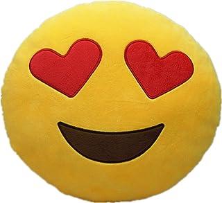 LI&HI Emoji Emoticon almohada Riendo cojín almohada Presidente Cojín Cojín redondo (amor)