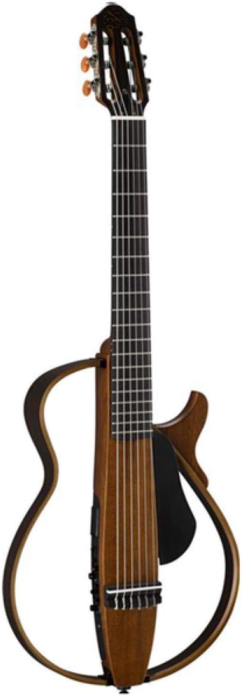 KEPOHK Guitarra eléctrica acústica con bolsa de guitarra original e instrumento de púa Cuerda de acero o nailon Guitarra silenciosa 39 pulgadas Cuerda de nailon-Natural