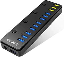 ORICO USB 3.0 Hub 12 Port with 3 BC1.2 Charging Port, 60W (12V/5A) Power Adapter for MacBook, Mac Pro/Mini, iMac, XPS, Surface Pro, Laptop, iPhone, Galaxy Series, HDD Hard Drive, and More