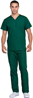 Cherokee womens Unisex Scrub Top and Scrub Pant Set Medical Scrubs Set