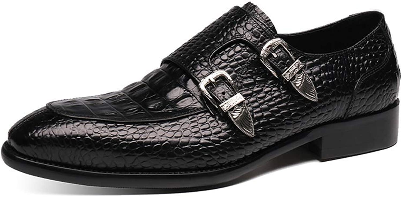 Högklassiga herrkläder Dubbla Monk Strap s s s läderskor, Pointed Loafer Comfortable Classic Business Formal skor s, British Style bröllop skor Casual  online shopping och modebutik