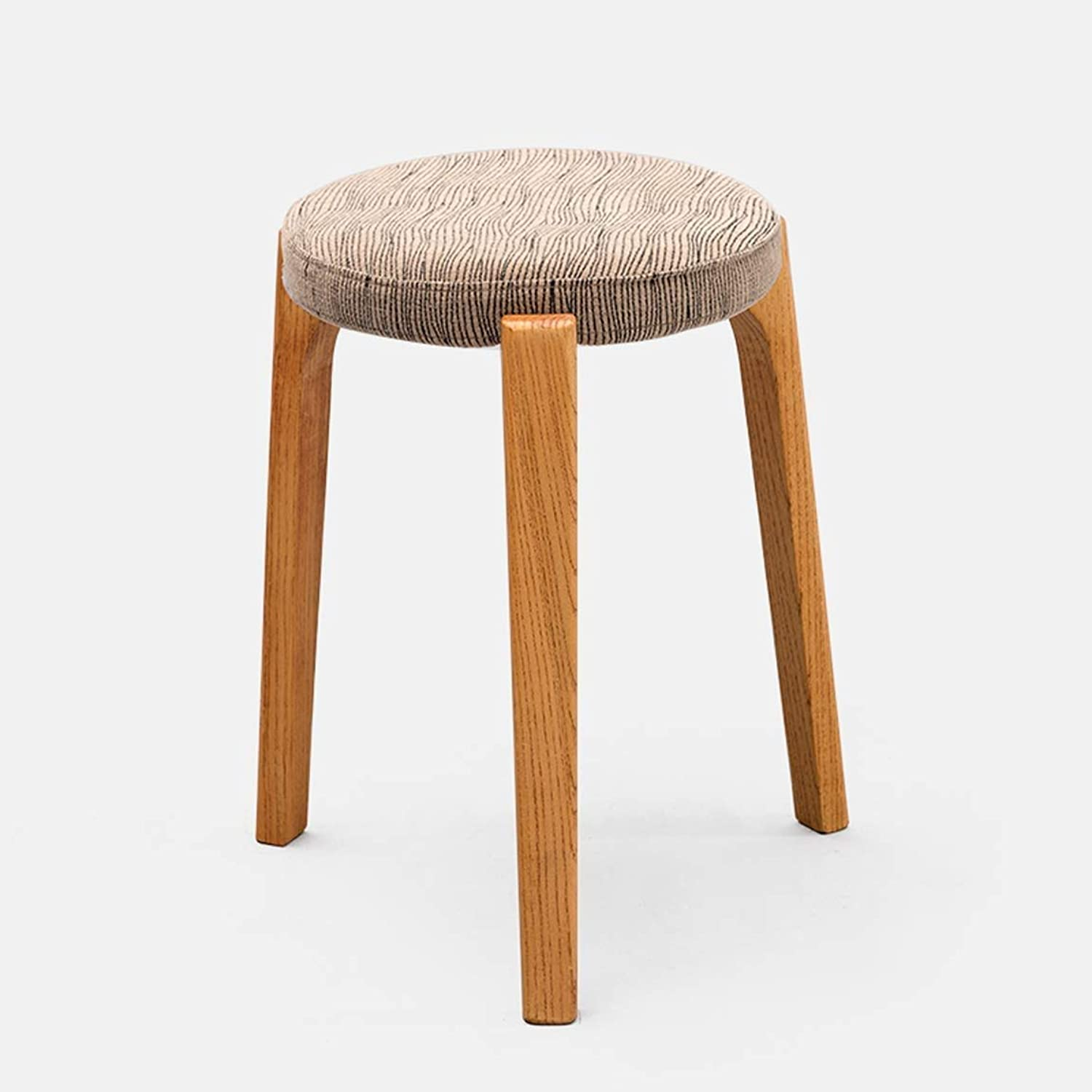 Creative Small Stool Solid Wooden Dining Stool, Square Stool, Dressing Stool, Simple Fashionable Dressing Stool, Bench, Household Stool 9 GMING (Size   31  45cm)