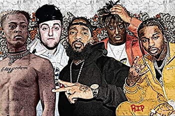 Famous Dead Rappers Poster Collage Home Decor Print 24x36